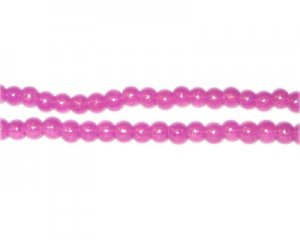 4mm Violet Pearlised Glass Bead, approx. 110 beads