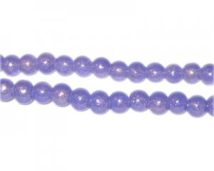 6mm Purple Pearlised Glass Bead, approx. 74 beads