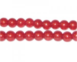 8mm Blush Pearlised Glass Bead, approx. 53 beads