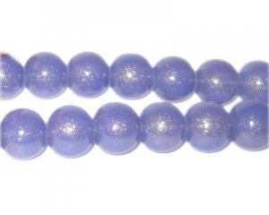 10mm Purple Pearlised Glass Bead, approx. 24 beads