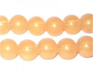 12mm Apricot Pearlised Glass Bead, approx. 19 beads