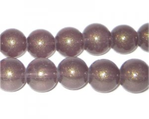 12mm Copper Pearlised Glass Bead, approx. 19 beads