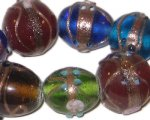 "15 - 25mm Color Mix Artisan Glass Bead, 5"" string"