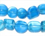 "4 - 12mm Turquoise Mix Artisan Glass Bead, 14"" string"