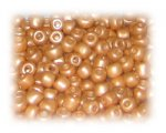 6/0 Soft Gold Opaque Glass Seed Beads, 1 oz. bag