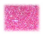 6/0 Fuchsia Rainbow Luster Glass Seed Beads, 1 oz. bag