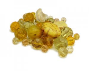 Approx. 1.5 - 2oz. Gold/Yellow Bead Mix