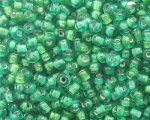 11/0 Green Inside-Color Glass Seed Bead, 1oz. bag