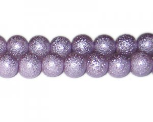 12mm Lilac Rustic Glass Pearl Bead, approx. 17 beads