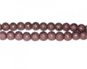 8mm Cocoa Rustic Glass Pearl Bead, approx. 56 beads