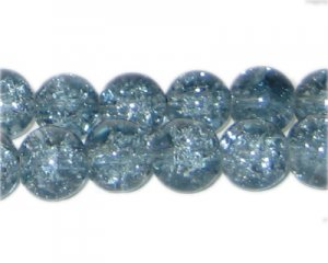 "10mm Moonlight Crackle Glass Bead, 8"" string"