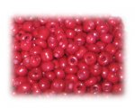 6/0 Deep Red Opaque Glass Seed Beads, 1 oz. bag