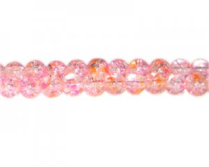 8mm Summer Glory Crackle Season Glass Bead, approx. 54 beads