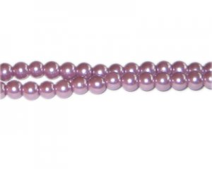 6mm Lavendar Glass Pearl Bead, approx. 78 beads