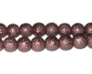 12mm Cocoa Rustic Glass Pearl Bead, approx. 17 beads