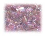 7 x 2mm Plum Luster Bugle Bead, 1 oz. bag