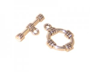 14 x 12mm Silver Toggle Clasp, 2 clasps