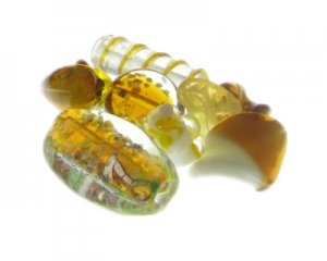 Approx. 2oz. Brown Handmade Lampwork Glass Bead Mix
