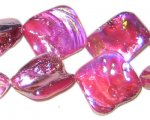 14 - 21mm Fuchsia Irregular Diamond Luster Shell Bead