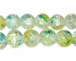 12mm Early Spring Crackle Season Glass Bead, approx. 19 beads