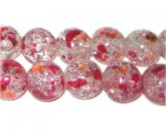 12mm Fall Colors Crackle Season Glass Bead, approx. 19 beads