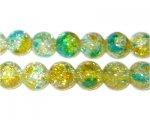 10mm Early Spring Crackle Season Glass Bead, approx. 21 beads