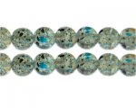 12mm Starry Night Crackle Season Glass Bead, approx. 18 beads