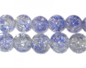 12mm Aster Crackle Spray Glass Bead, approx. 18 beads
