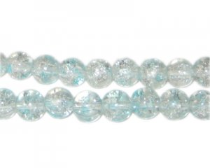 8mm Forget-me-not Crackle Spray Glass Bead, approx. 53 beads