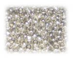 6/0 Bright Silver Metallic Glass Seed Beads, 1 oz. bag