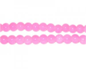 6mm Cherry Quartz-Style Glass Bead, approx. 75 beads