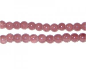 6mm Light Garnet-Style Glass Bead, approx. 75 beads