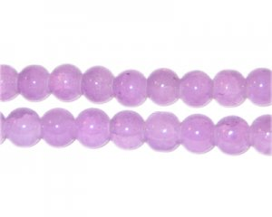 8mm Amethyst-Style Glass Bead, approx. 53 beads