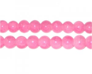 8mm Cherry Quartz-Style Glass Bead, approx. 53 beads