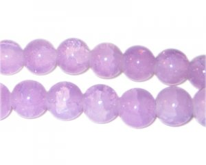 10mm Amethyst-Style Glass Bead, approx. 21 beads