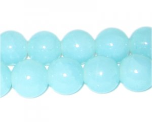 12mm Larimar-Style Glass Bead, approx. 18 beads