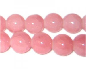 12mm Pink Aventurine-Style Glass Bead, approx. 18 beads