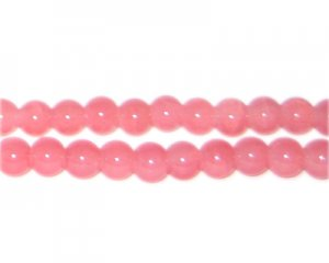 6mm Pink Aventurine-Style Glass Bead, approx. 75 beads