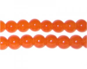 8mm Carnelian-Style Glass Bead, approx. 53 beads