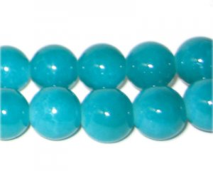 12mm Green Aventurine-Style Glass Bead, approx. 18 beads
