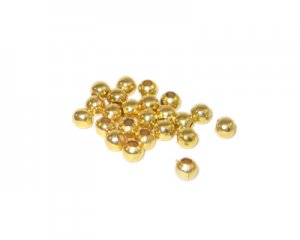 4mm Gold Round Iron Bead, approx. 200 beads - large hole