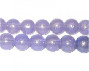 10mm Light Purple Pearlised Glass Bead, approx. 24 beads