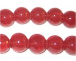 12mm Pomegranate Jade-Style Glass Beads, approx. 18 beads
