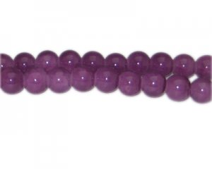 10mm Dark Amethyst-Style Glass Bead, approx. 21 beads