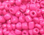 6/0 Hot Pink Opaque Glass Seed Bead, 1oz. bag