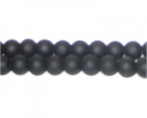 8mm Black Sea/Beach-Style Glass Bead, approx. 35 beads