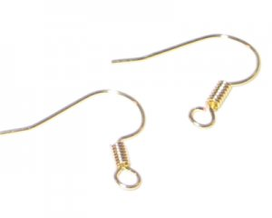 18mm Gold Hook Earwire - approx. 50 earwires