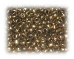 6/0 Antique Gold Metallic Glass Seed Beads, 1 oz. bag