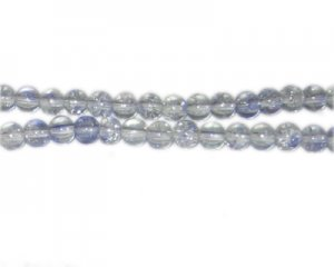 6mm Lilac Crackle Spray Glass Bead, approx. 70 beads
