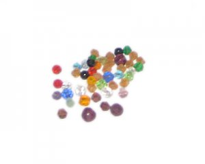 Approx. 0.5oz. 4mm Color Faceted Round Beads